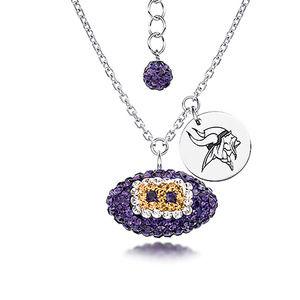 NFL Minnesota Vikings Football Necklace Silver